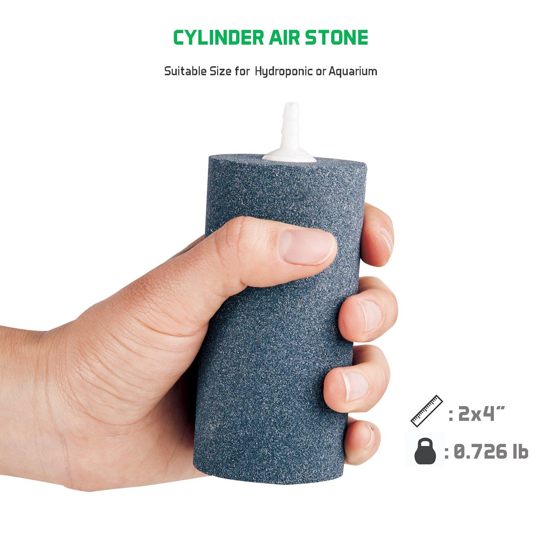 VIVOSUN Air Stone 2PCS 4 X 2 Inch Large Air Stone Cylinder for Aquarium and Hydroponics Air Pump (2PCS 4 x 2 Inch) by VIVOSUN (Image #2)