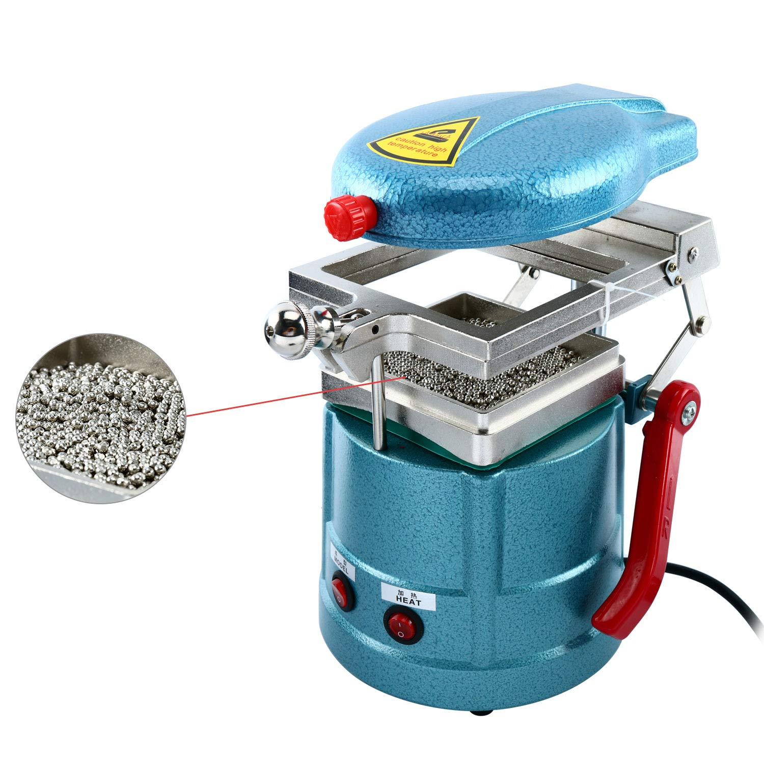 Dental Vacuum Forming Machine Power Former Heat Molding Tool w/Steel Balls Lab Equipment