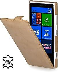 StilGut Ultraslim, housse exclusive de cuir véritable pour le Nokia Lumia 920, old style beige