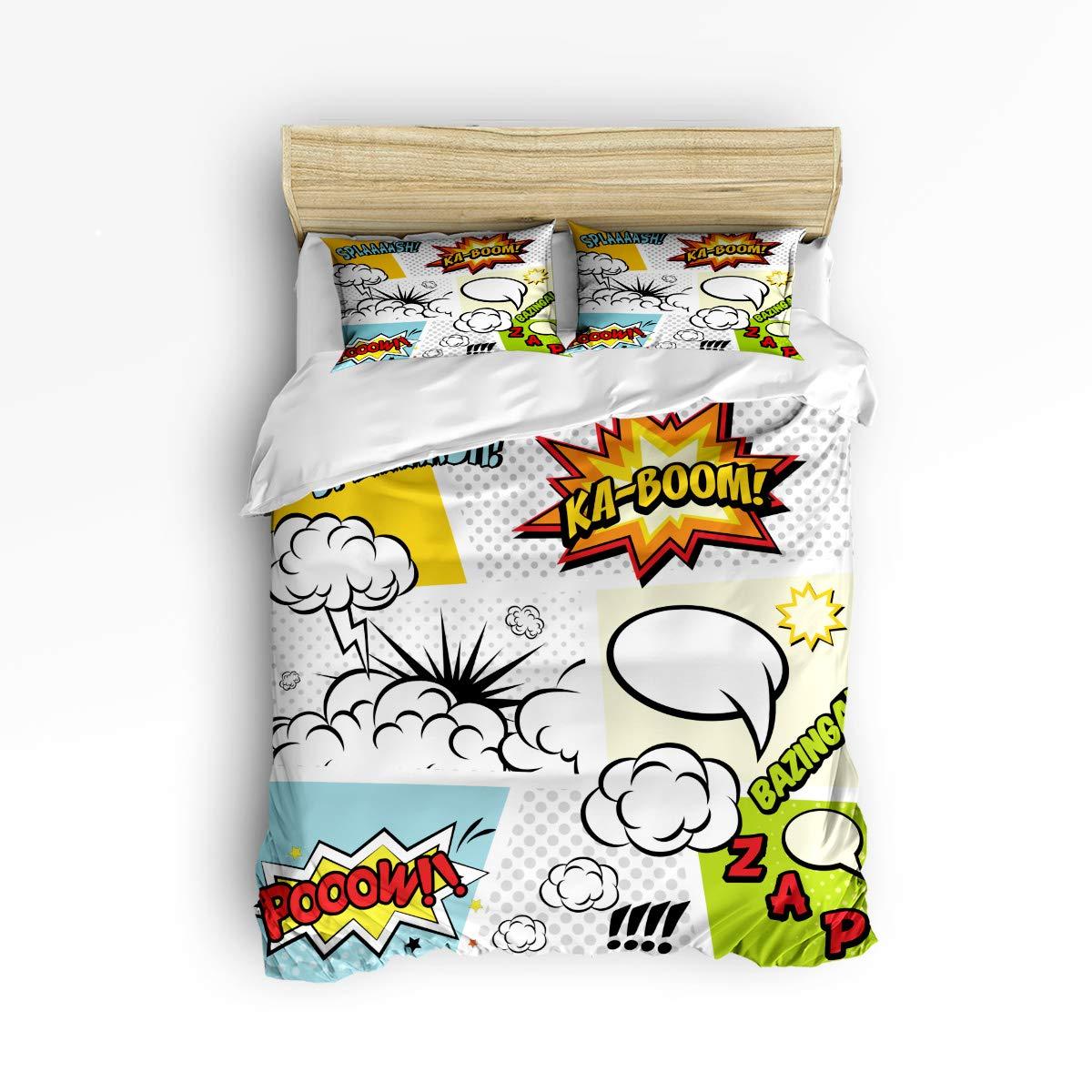 EZON-CH かわいい布団カバー3点セット 子供 男の子 女の子 黄色いカエデの木 ベッドルームの装飾寝具セット 枕カバー2枚付き Queen Size 20190106whlwhlsjsjsSSTW01718SJSCEZN B07MS8W9KL Dialog Box Boomezn1560 Queen Size