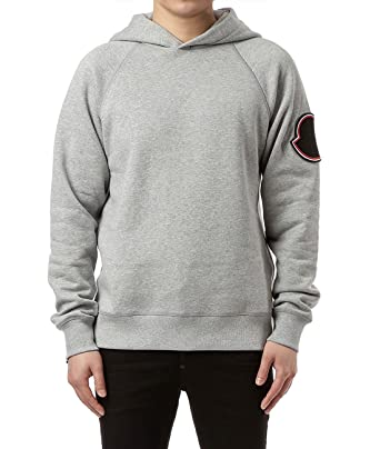 Wiberlux Moncler Men's Hooded Raglan Sweatshirt S Gray