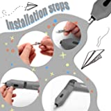 Venoro Electric Eraser Kit, Battery Operated Pencil Automatic Eraser with 10pcs Replaceable Rubber Refills for Painter Artists Student Designer Architectural Plans