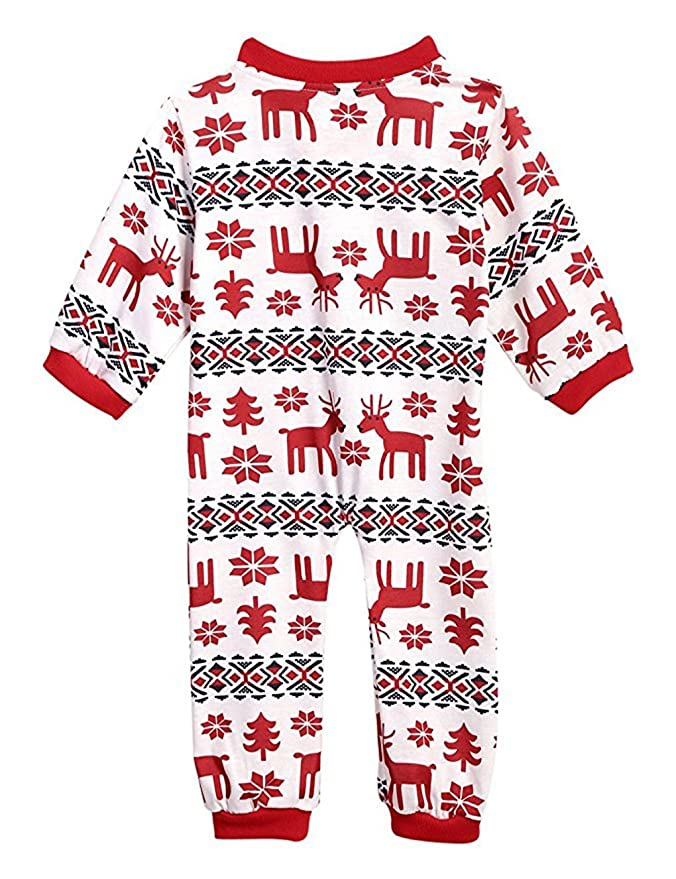 4773d4faf Pijamas Navidad Familia Conjunto Pantalon y Top Fiesta Manga Larga Trajes  Navideños Pijama Dos Piezas Mujer