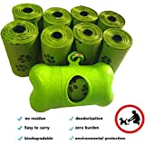 Compostable Biodegradable Dog Poop Bag,Ourhome520 Refill Rolls, Leak-Proof Pet Waste Bags, Earth Friendly, Easy Tear-off, EPI Technology, Environment-Friendly Durable, Cat litter bag