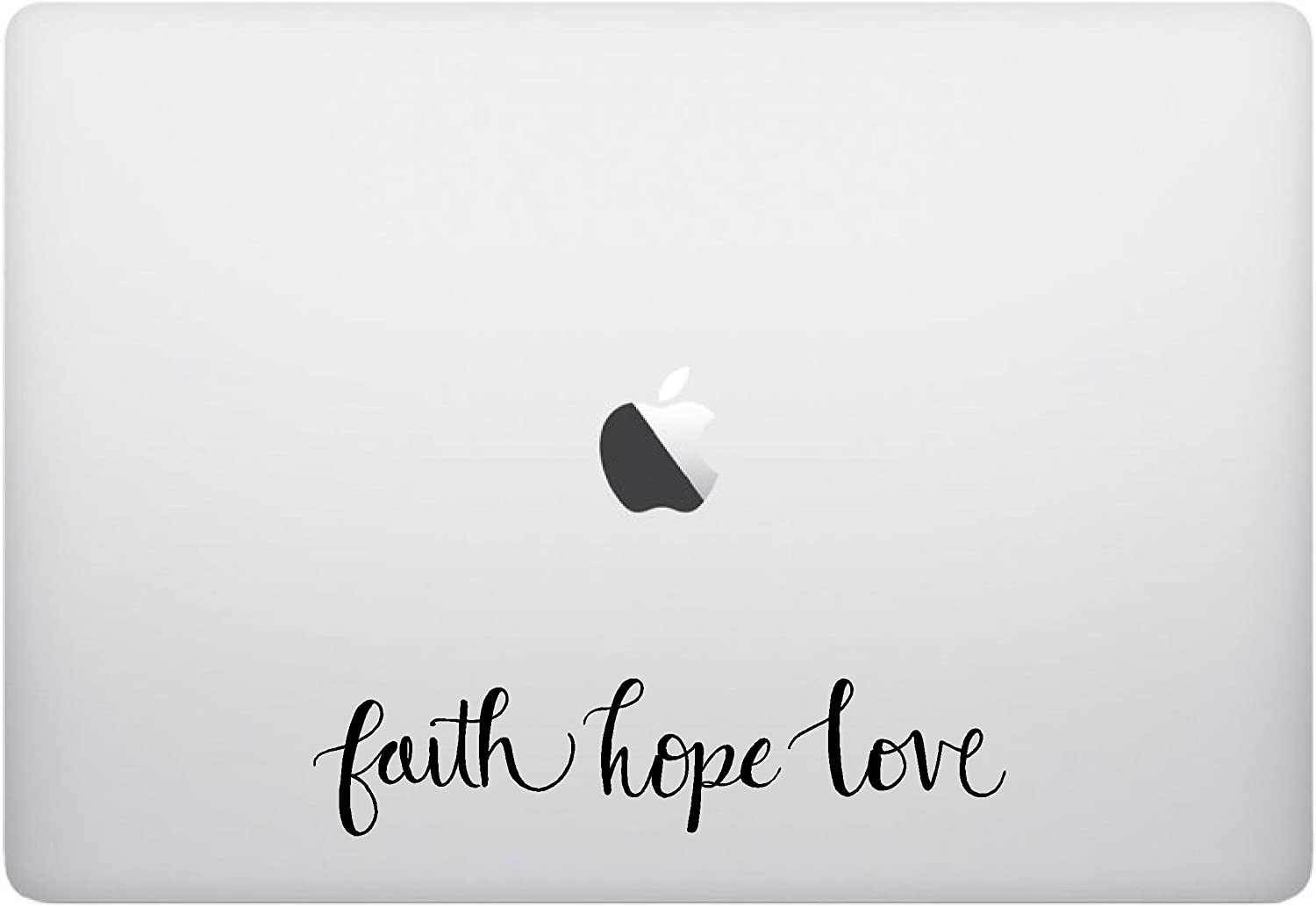 Laptop Sticker Decal - Faith Hope Love - Matte Black Skins Stickers