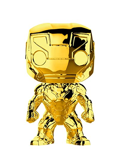 amazon com funko pop marvel marvel studios 10 iron man gold