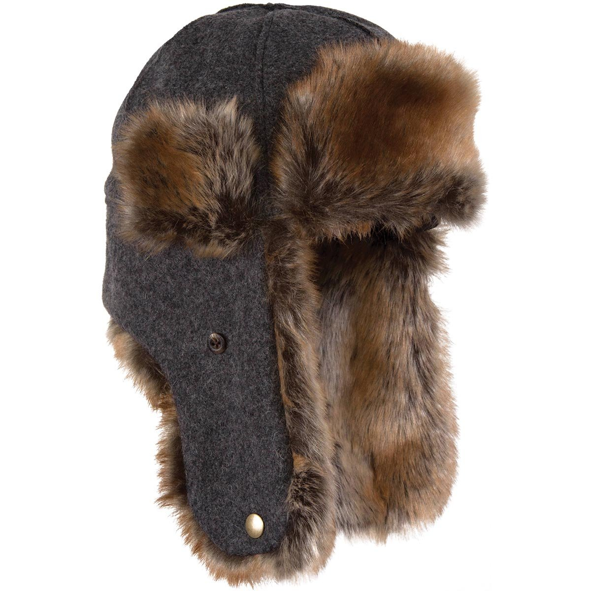 Stormy Kromer The Northwoods Trapper Hat, Color: Charcoal, Size: Sm (51210-00004