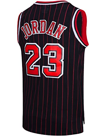 a0bd39e97f407 RAAVIN Legend Mens #23 Basketball Jersey Retro Athletics Jersey Red White  Black/Strip S
