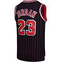 RAAVIN Legend Mens  23 Basketball Jersey Retro Athletics Jersey Red White  Black Strip S 68b43c230