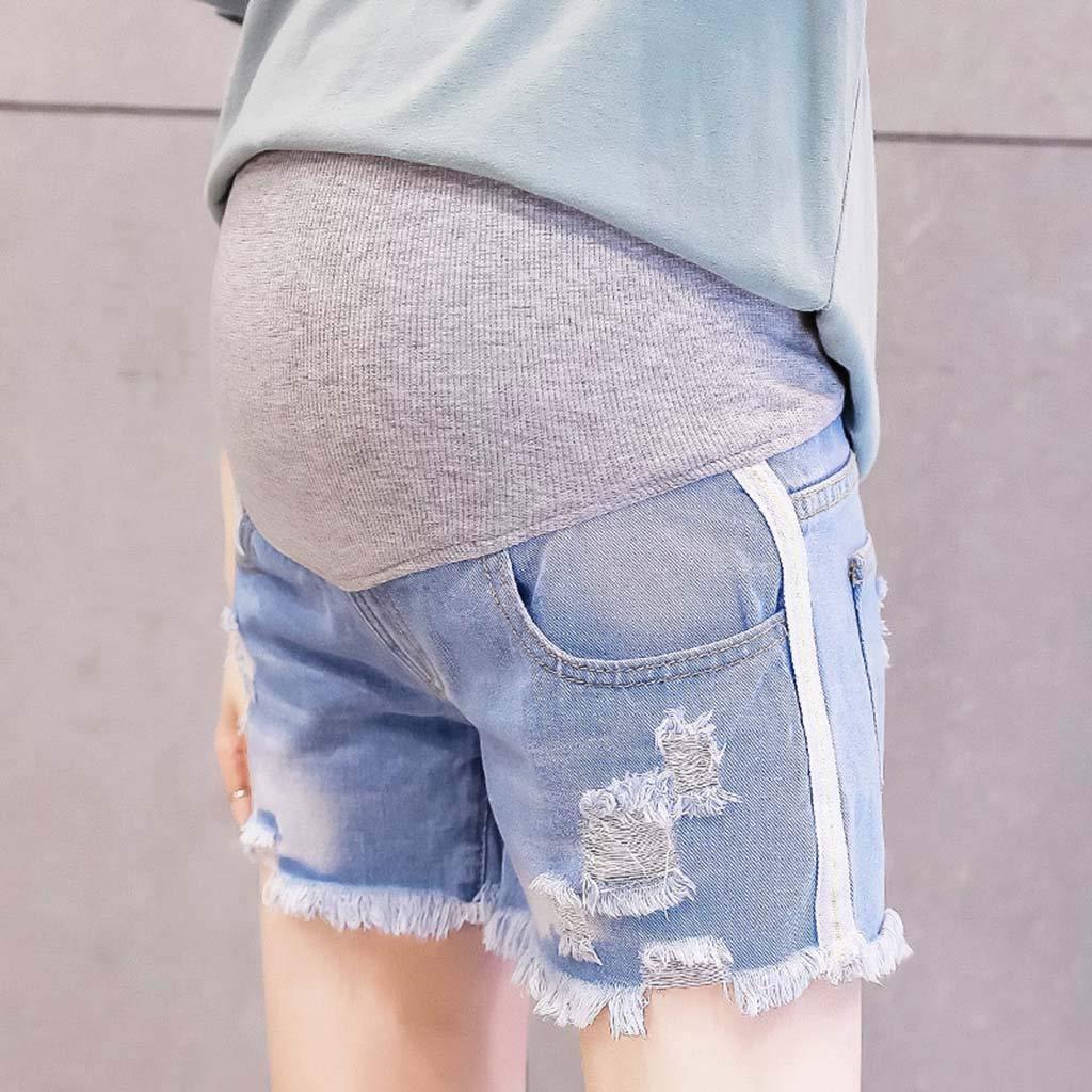 Muamaly Umstandshose Jeans Umstandsjeans Kurz L/öchern Umstandsmode Damen Hosen Jeans Jeanshosen Jogginghose Maternity Hose Skinny Hosen Mutterschafts Leggings Schwangerschaftshose