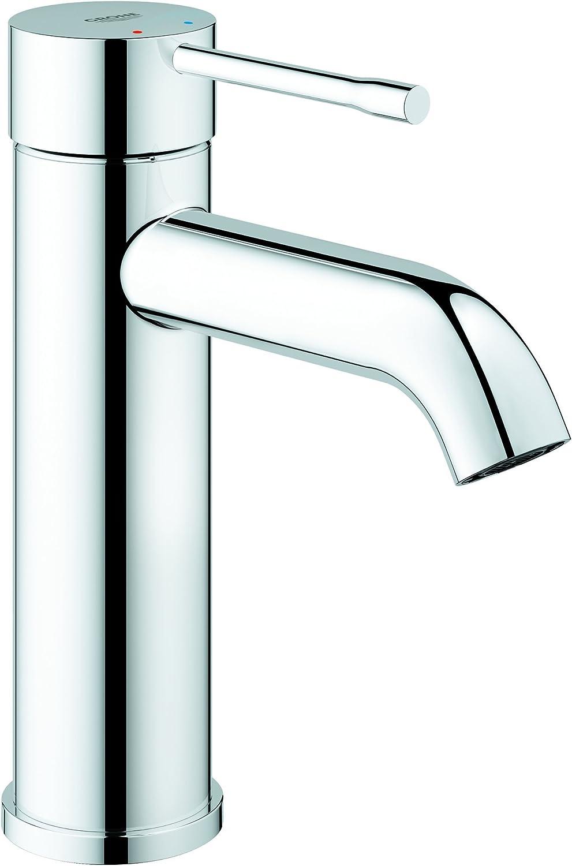 Grohe Essence - Grifo de lavabo, monomando con cuerpo liso, con limitador ecológico de temperatura, Tamaño S, (1/2