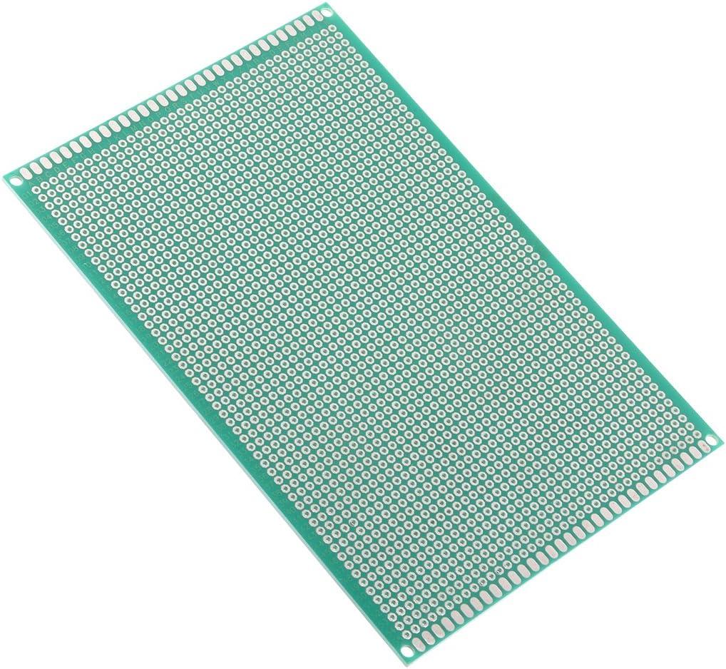 sourcing map 7x9cm universel simple face circuit imprim/é souder DIY 1.6mm /épaisseur 10pcs