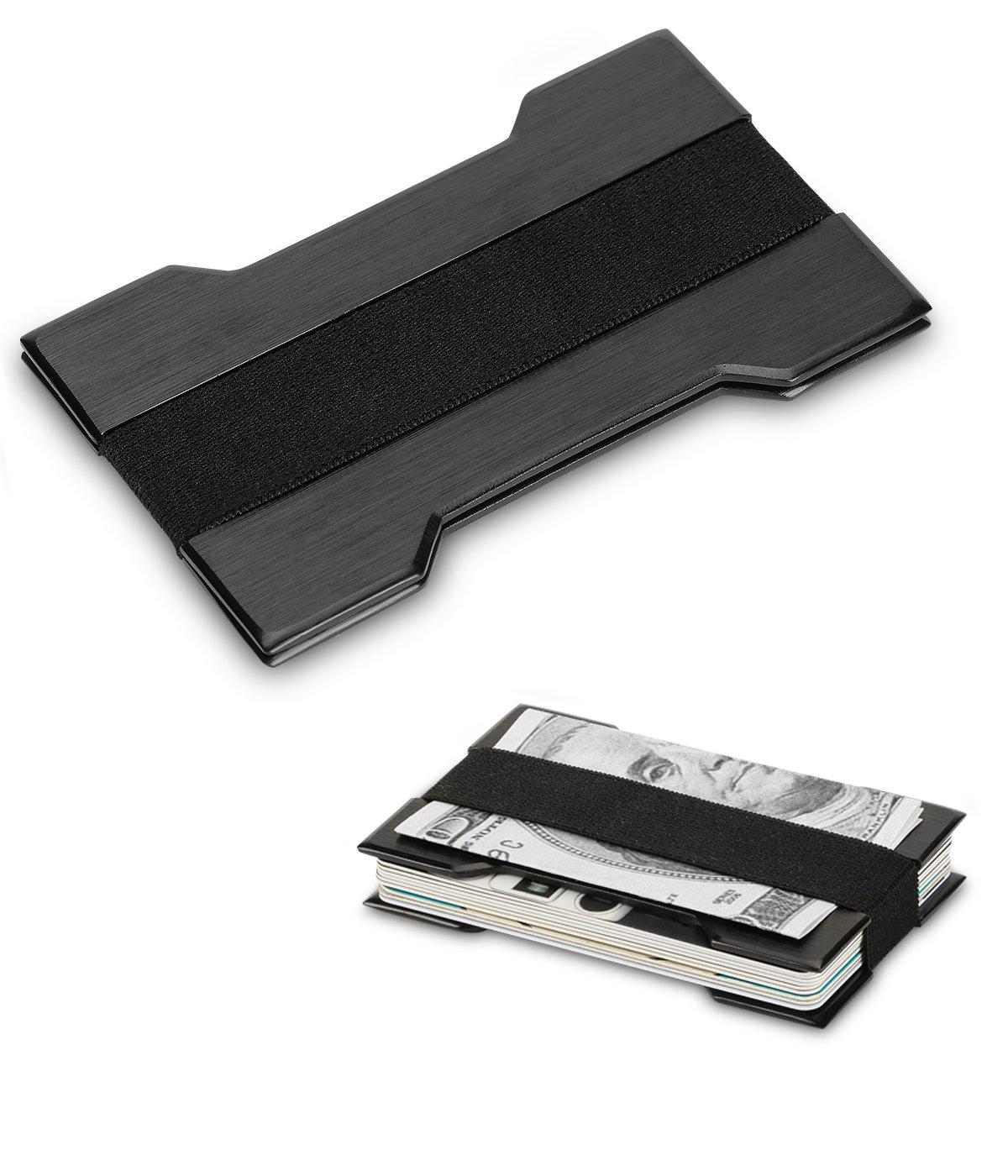 Portafoglio per biglietti da visita in alluminio sottile Porta biglietti da visita Mini Card Case Porta carte Titolare RFID Blocking Anti-statico e anti-magnetico ZOSEN 13386805