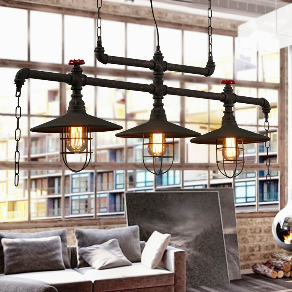 XING ZI chandelier X-L-H Retro Industrial Wind Restaurant Loft Bar ...