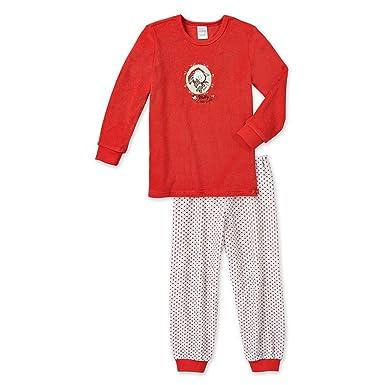 323552e0a8118a Schiesser Mädchen Schlafanzug lang, Pyjama, Frottee, NICI Rotkäppchen  'Melly & little Wolf