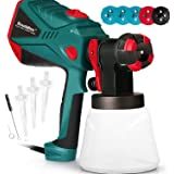 Scuddles Paint Sprayer, 1200 Watt High Power HVLP Home and Outdoors Includes 5 Nozzle, Lightweight, Easy Spraying and Cleanin