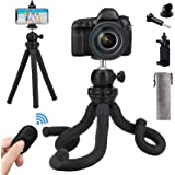 Naohiro Phone Tripod, Portable and Flexible Phone Tripod Stand with Wireless Remote and Phone Holder, Tripod for iPhone…