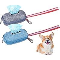 AvoDovA Dog Pet Waste Bag Dispenser, 2 Pack 10×6cm Dog Poop Bags Holder Portable, Pet Diaper Bags Distributor, Dog Cat…