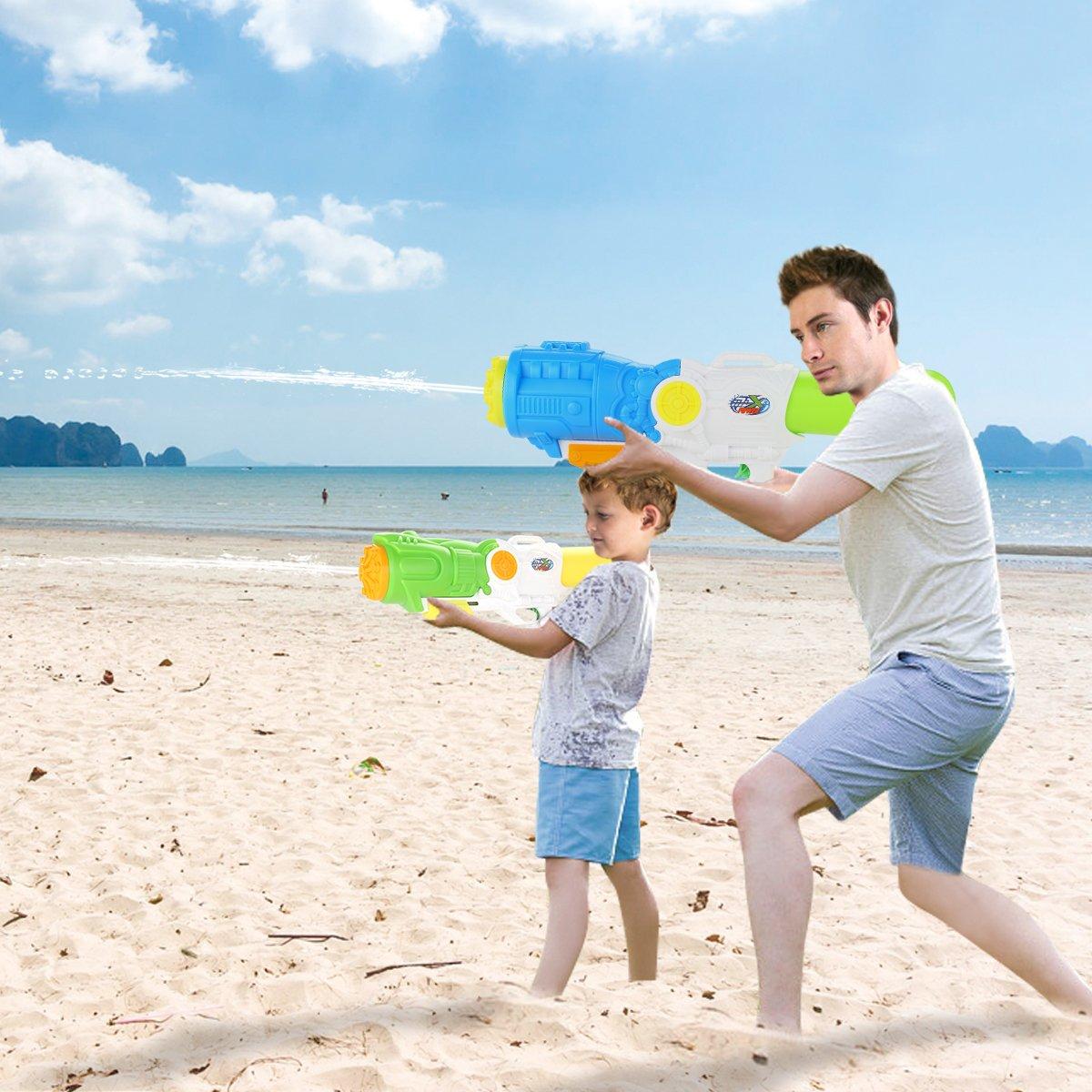 Fun-Here Huge! Water Guns 21 inch 2 Packs Blaster High Capacity Super Squirt Soaker Water Pistol Blaster Gun Funny Party Pool Summer Fighting Toy Kids Adults