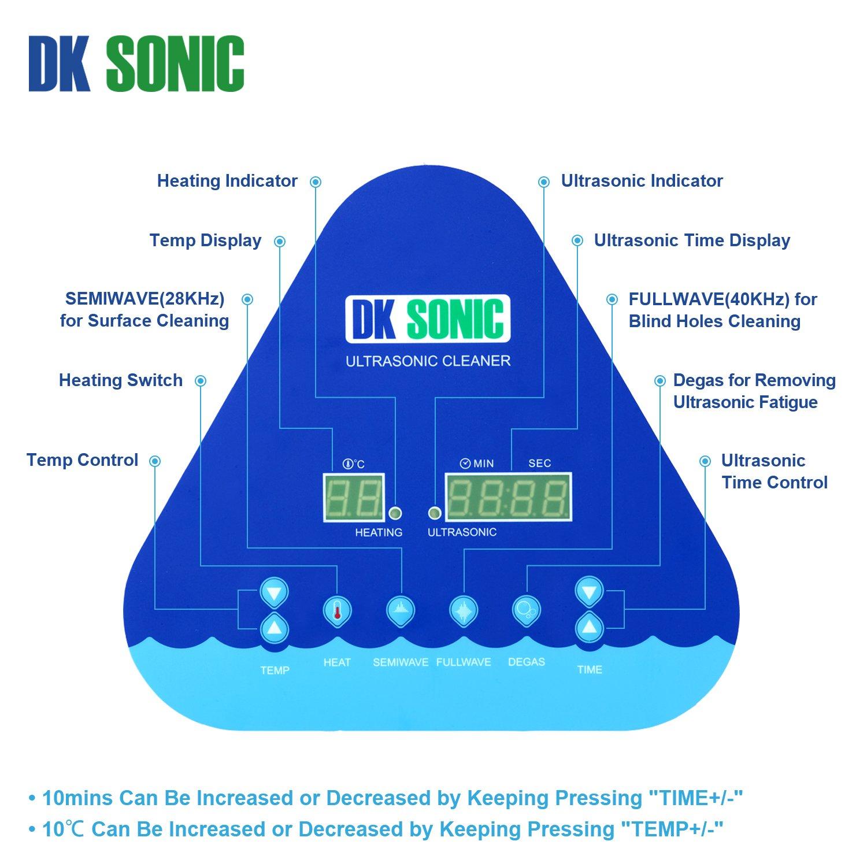 Pulitore ad Ultrasuoni da Banco DKSONIC 6.5L con modalità Semi Wave e Fullwave per la pulizia di gioielli Monete Orologi Occhiali Circuiti di testine ...