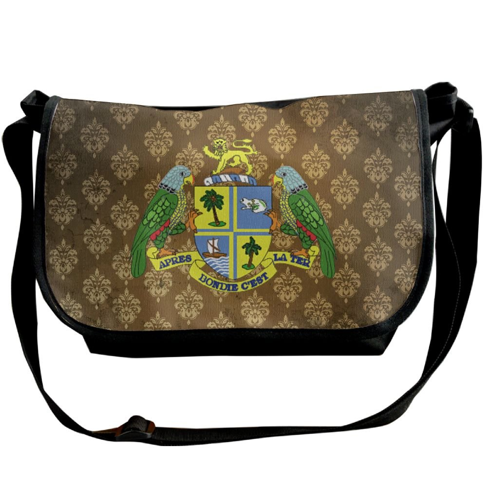 Lov6eoorheeb Unisex Coat Of Arms Of Dominica Wide Diagonal Shoulder Bag Adjustable Shoulder Tote Bag Single Shoulder Backpack For Work,School,Daily
