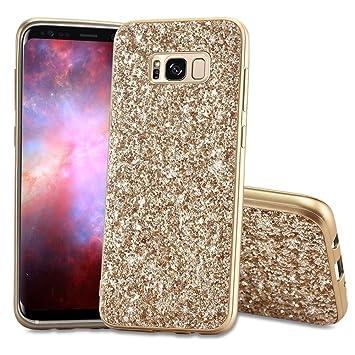 94c0d6bbb22 Slynmax - Carcasa para Samsung Galaxy S8 Plus (silicona), diseño de  purpurina, dorado: Amazon.es: Instrumentos musicales