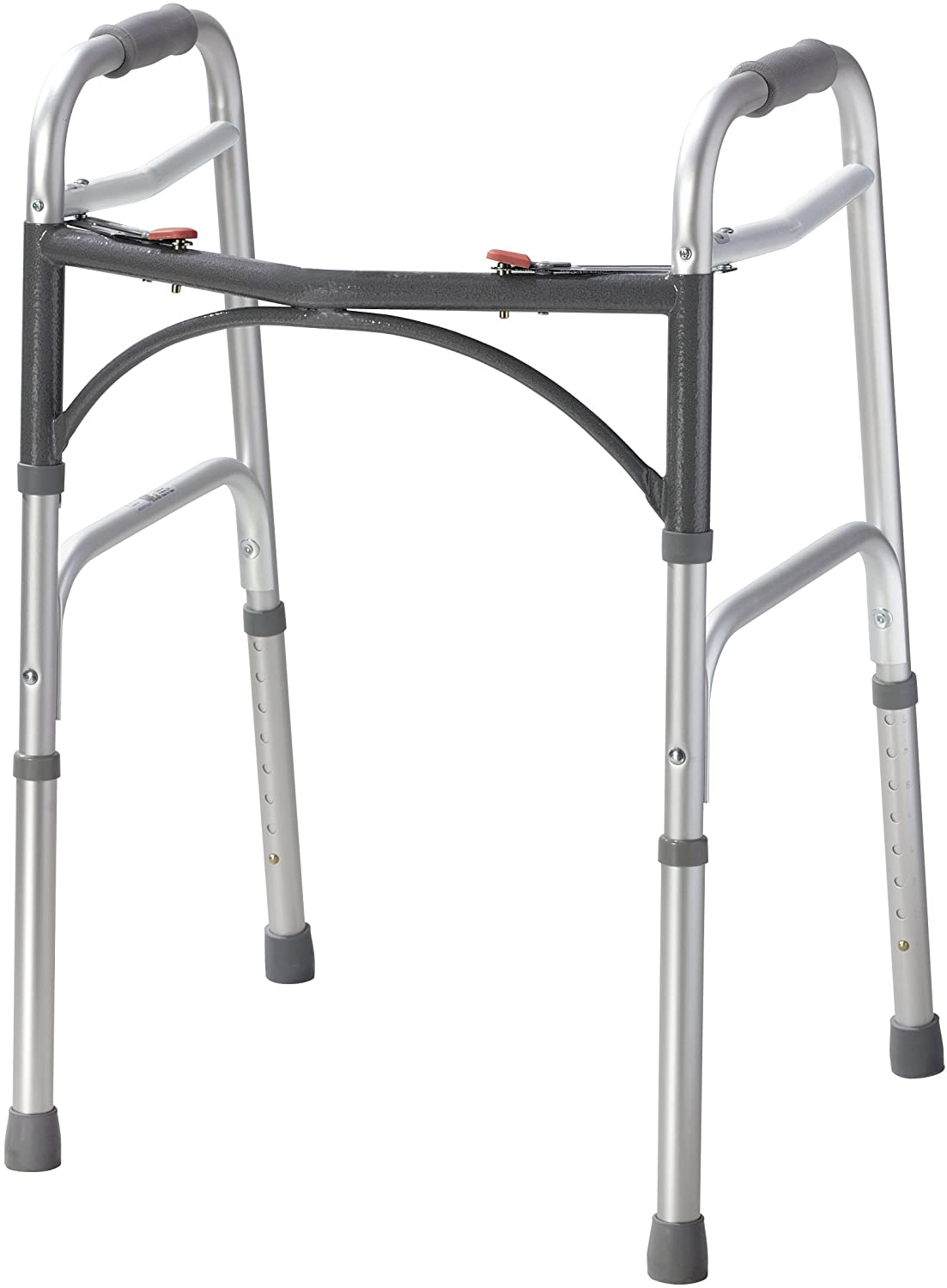 Drive Medical 10200-1 Deluxe Two Button Folding Walker, Silver 71tZOsMv-wL
