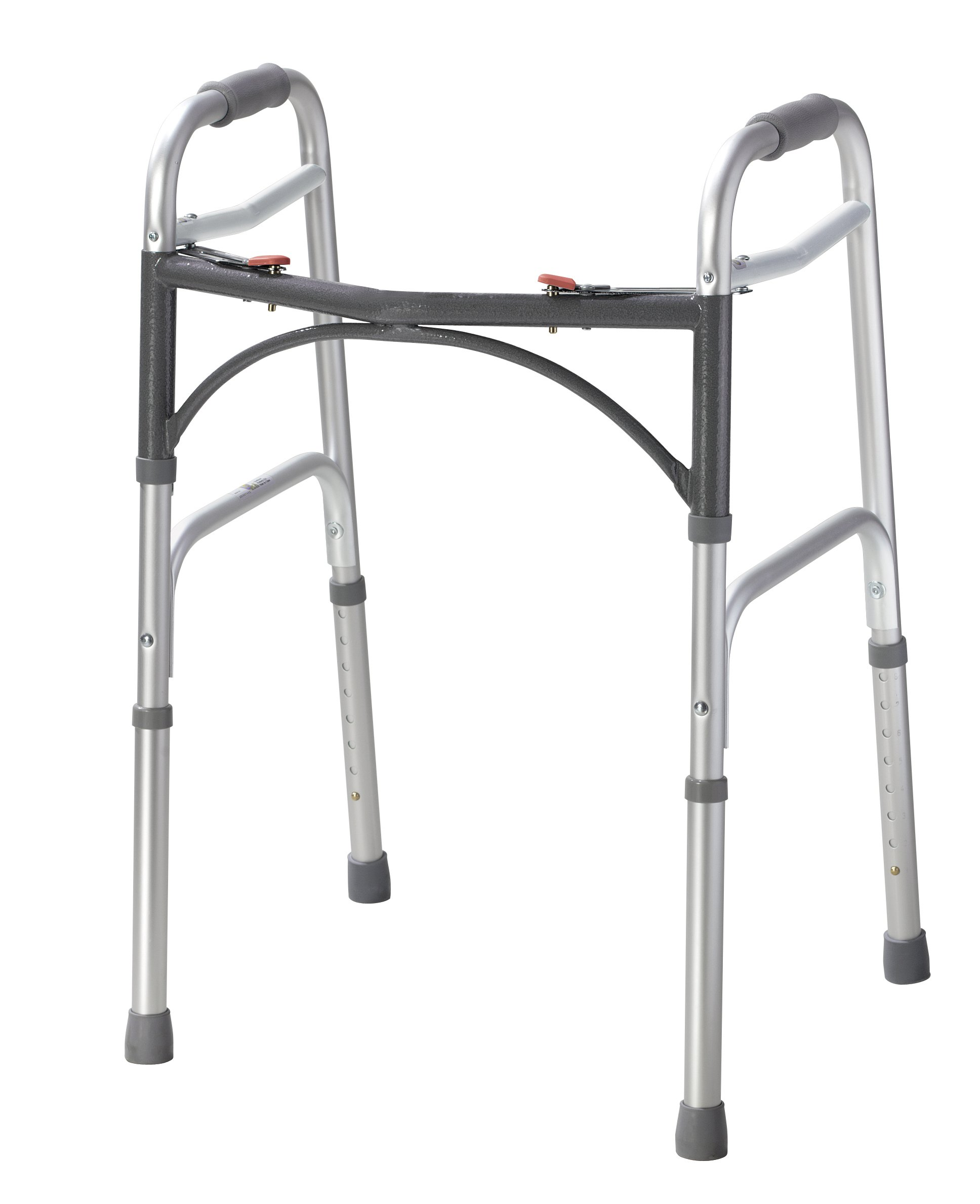 Drive Medical 10200-1 Deluxe Two Button Folding Walker, Silver by Drive Medical