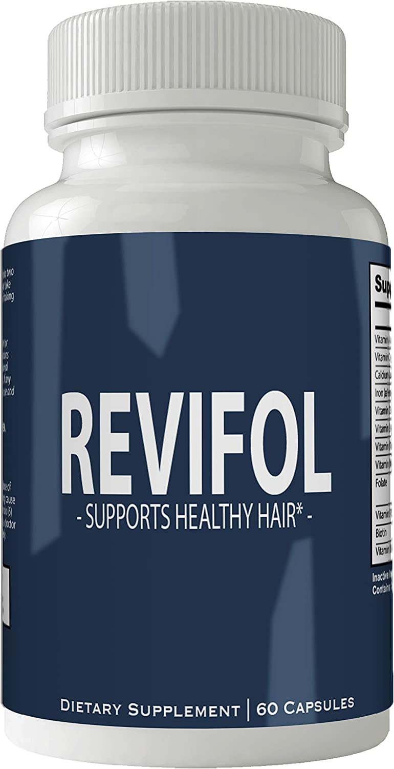 Revifol Hair Skin and Nails Supplement - Advanced Unique Hair Growth Vitamins and Minerals with Biotin - Gluten Free 60 Capsules - Hair Lash Skin and Nails Extra Strength Formula Growth Booster
