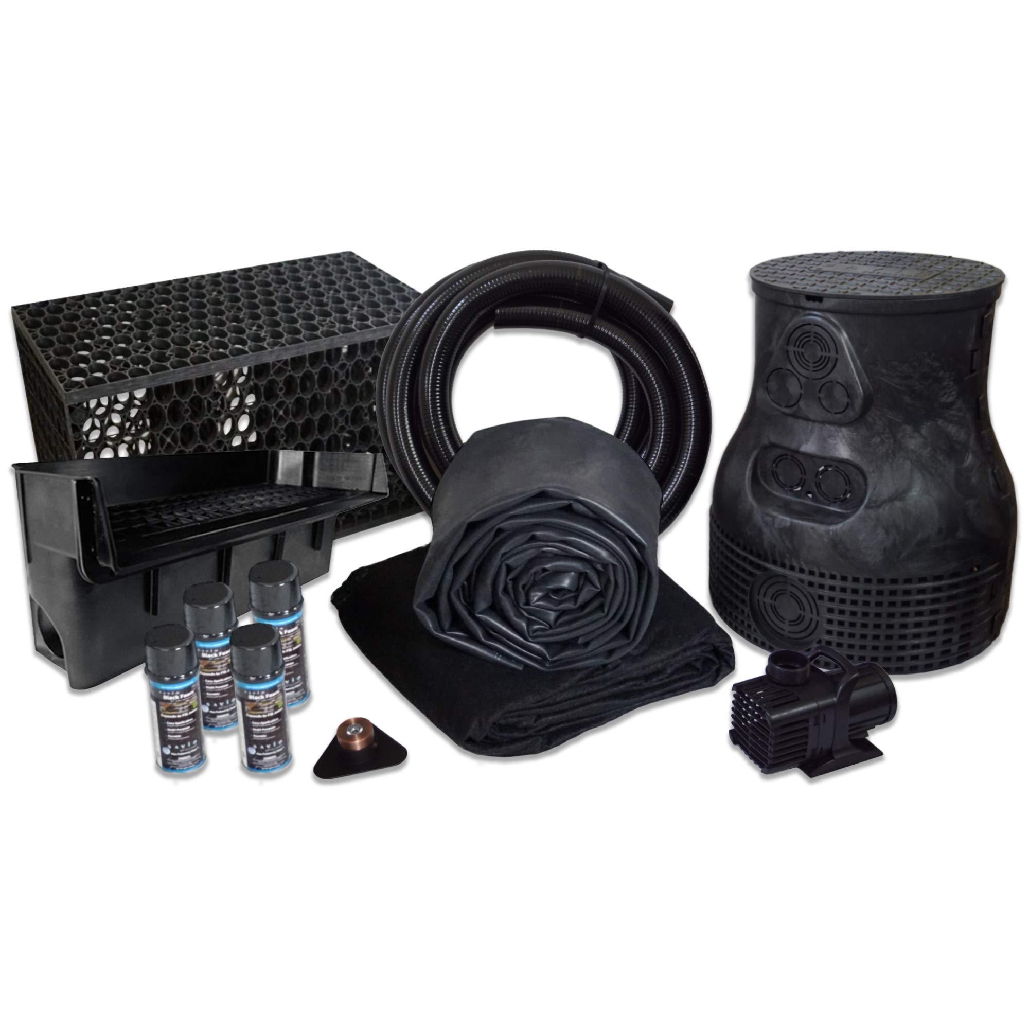 HALF OFF PONDS 10' x 30' Savio Pond Free 6100 EPDM Waterfall Kit w/MatrixBlox - PLSB4