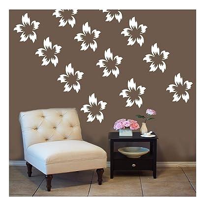 Kayra Decor Flower Plastic Sheet DIY Reusable Stencil for Wall (16x24-inch, Multicolour)