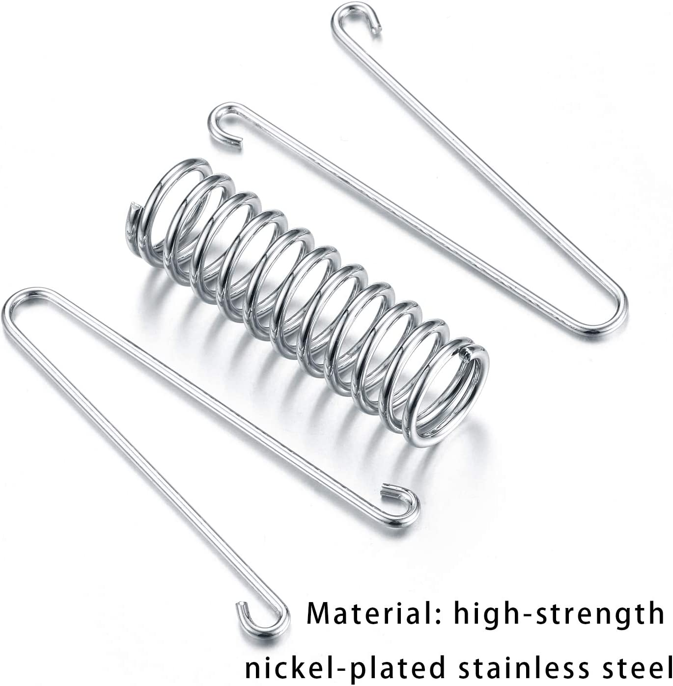 10PCS Tent Spring Buckle Used for Camping Hiking Stainless Steel Windproof Camping Awning Rope Tensioner Fishing and Mountaineering