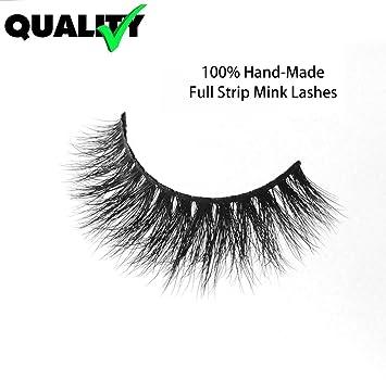 22a95bb2166 3D Mink Fake Eyelashes -100% Handmade 3D Mink Fur Eyelashes for Makeup with  Natural