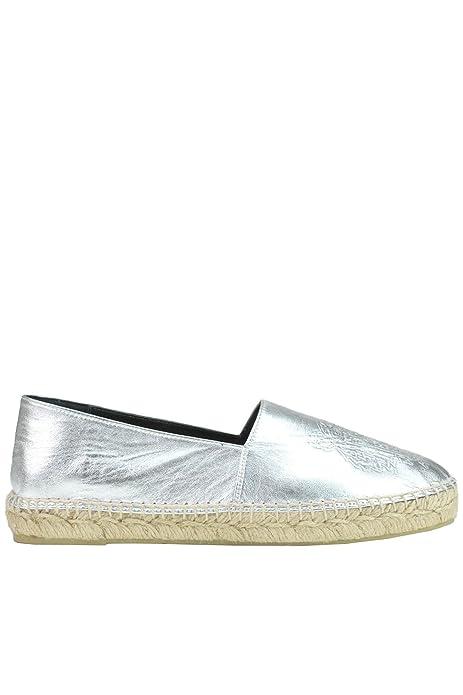 Kenzo - Alpargatas para Mujer Plateado Plata IT - Marke Größe, Color Plateado, Talla 37 EU: Amazon.es: Zapatos y complementos