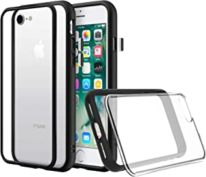 RhinoShield Modular Case Compatible with [iPhone Xs Max] | Mod NX - Customizable Shock Absorbent Heavy Duty Protective Cover - Shockproof Black Bumper with Clear Back