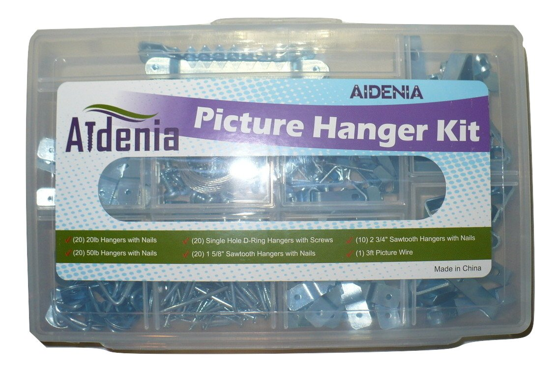 Aidenia Picture Hanging Kit with 20lb Hangers, 50lb Hangers, Single ...