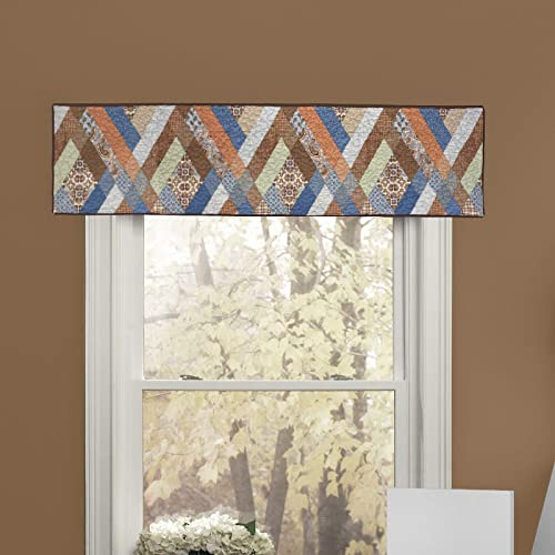 Donna Sharp Valance – Sienna Contemporary Decorative Window Treatment with Multicolored Pattern