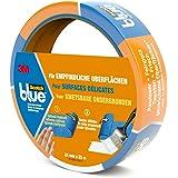 3M ScotchBlue Ruban Masquage pour Surfaces Délicates 24mm x 25m 1 Rouleau Bleu