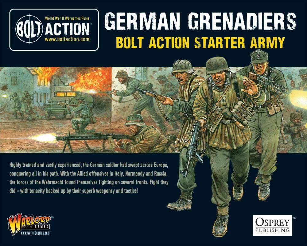 Bolt Action German Grenadiers Starter Army 1:56 WWII Military Wargaming Plastic Model Kits