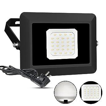Elegant LED Fluter Außen Scheinwerfer Lampe Mit Stecker 30W IP65 Wasserdicht  Strahler Licht Wandleuchten 5000K Tageslichtweiß Energieklasse