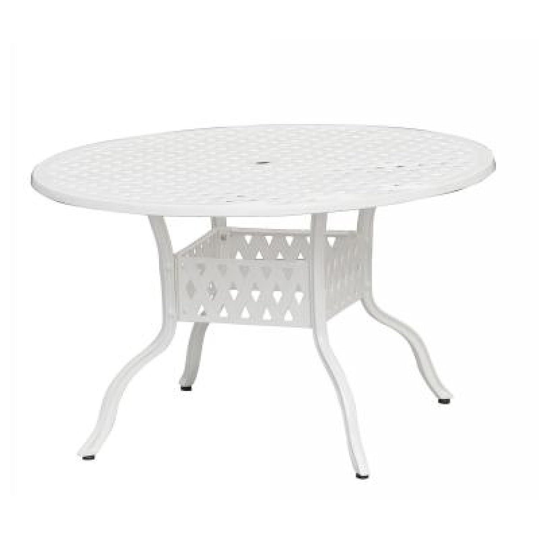 Inko Aluguss Tisch Nexus Weiß rund 120 cm Gartentisch TAG 202-W