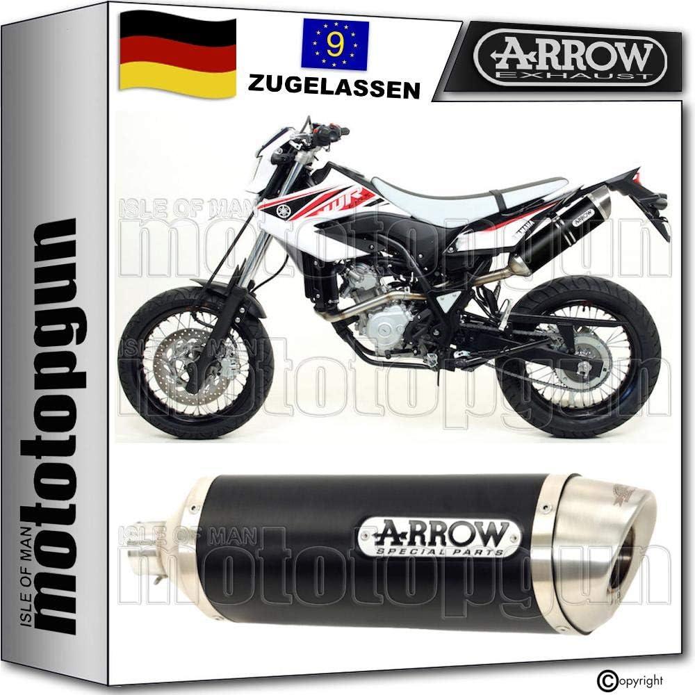 Arrow Auspuff Homologiert Schwarz Thunder Kompatibel Mit Yamaha Wr 125 X 2009 2010 2011 2012 2013 2014 2015 2016 52505aon Auto