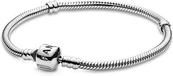 PANDORA 590702HV - Pulsera de plata de ley 925 con cierre de cuentas, para mujer
