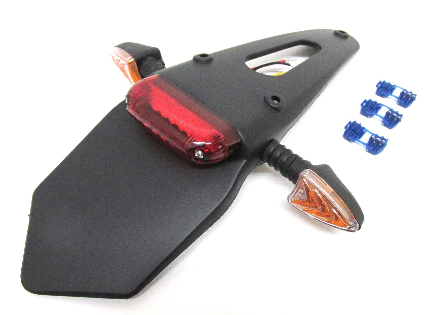 E-gepr/üft ohne KZB Motorrad LED R/ücklicht Rail Ma/ße: L=105mm x B=19mm x H=18mm biegsam rot