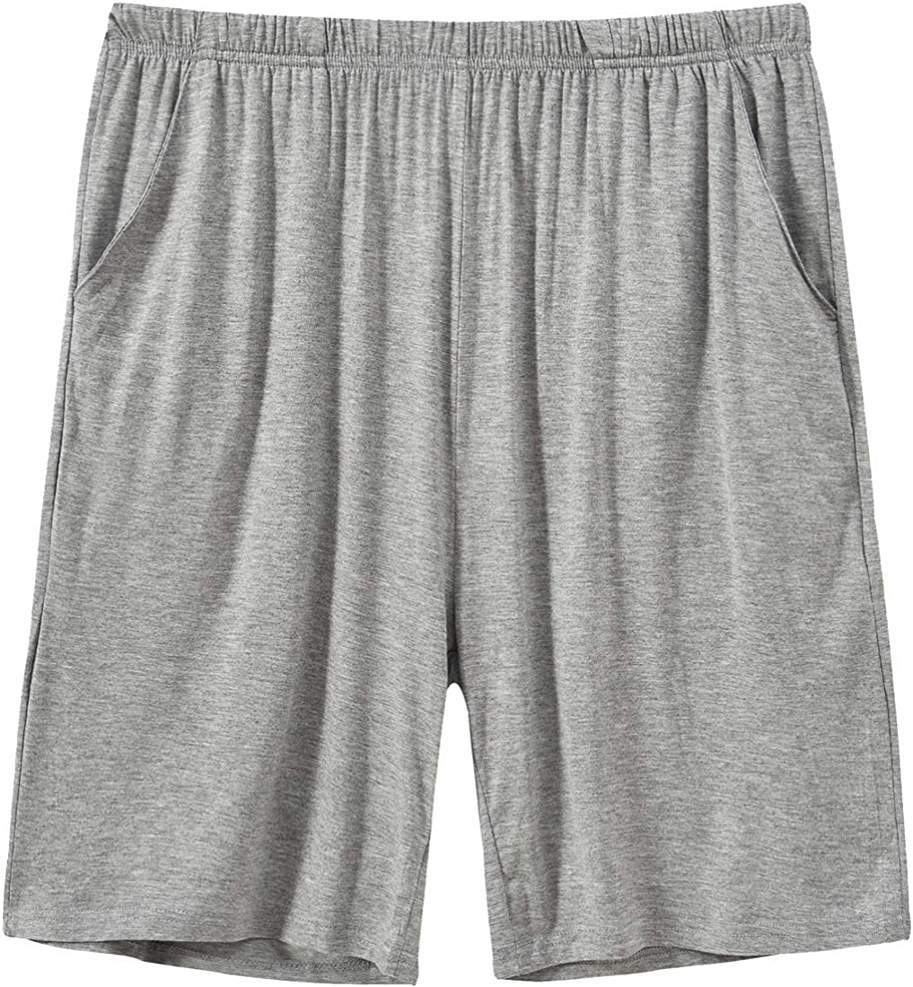 MoFiz Mens Pyjama Shorts Bottoms Ultra Soft Modal Lounge Wear Shorts with Pockets