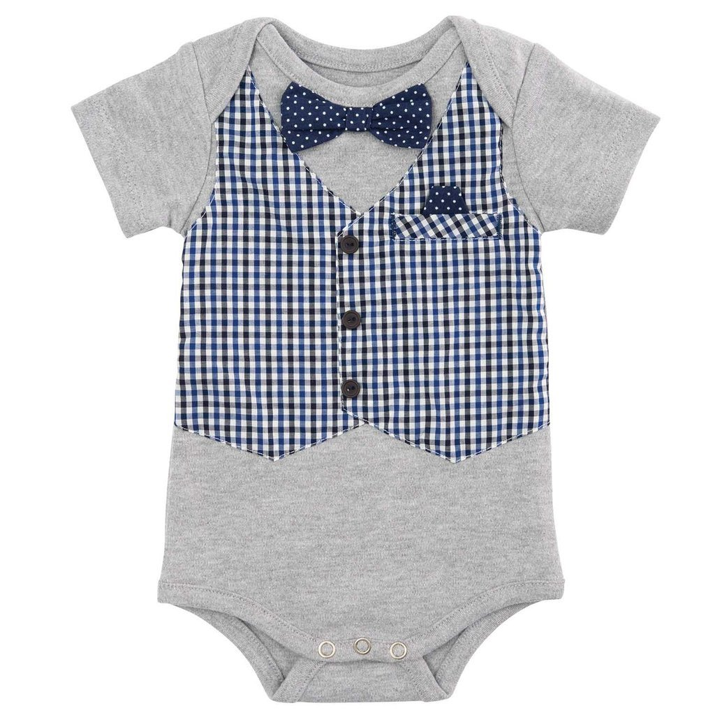 Elegant Baby My first formal Boy Onesie, 6-9 Months