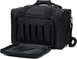 G GATRIAL Pistol Range Bag Tactical-Shooting Large Handguns Accessories Deluxe Pouch Hunting Travel Sport Duffle Bags