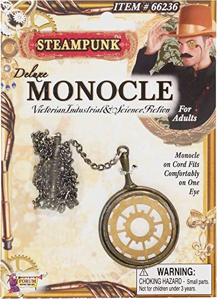 Adult Reading Glass Opera Fancy Dress Party Costume Accessory Steampunk Monocle
