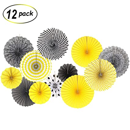 Amazon.com 12 Pack Black Yellow Bee Party Decoration