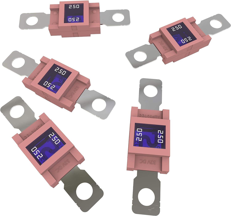 Auprotec/® MIDI fusibles pour courant de forte intensit/é /à visser 40A 50A Ampere rouge 3 pi/èces 100A choix